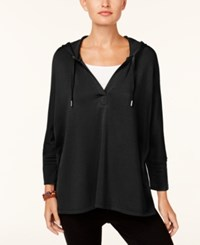 Styleandco. Style Co Oversized Dolman Sleeve Hoodie Created For Macy's Deep Black
