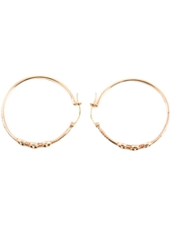 Hoorsenbuhs Three Bridal Link Hoop Earrings Metallic