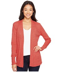 Michael Michael Kors Rib Snap Sleeve Open Cardi True Red Women's Sweater