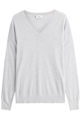 Closed Wool Pullover Grey