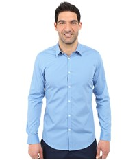 Calvin Klein Infinite Cool Slim Fit Pinstripe Shirt Deep Water Men's Long Sleeve Button Up Blue