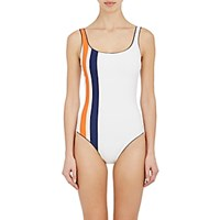 Tory Sport Women's Striped Scoopback One Piece Swimsuit No Color
