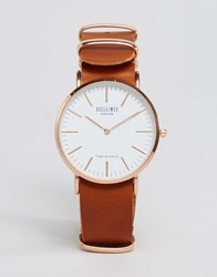 Reclaimed Vintage Leather Watch In Tan Tan