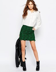 Goldie Danny Skirt In Lace Green