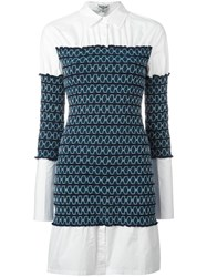 Opening Ceremony Contrasting Print Shirt Dress White