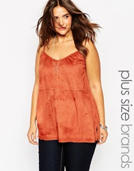 New Look Inspire Suedette Cami Red