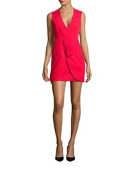 Bcbgmaxazria Clare Draped Tulip Skirt Dress Red Berry