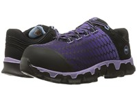 Timberland Powertrain Alloy Toe Sd Black Synthetic Lavender Women's Work Lace Up Boots Purple