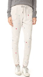 Zoe Karssen Hearts All Over Sweatpants Light Heather Grey