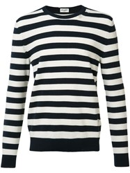 Saint Laurent Striped Sweater Black