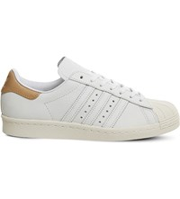 Adidas Superstar 80S Nubuck Trainers White Nubuck Tan