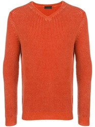 Iris Von Arnim Ribbed Knit Sweater Yellow And Orange