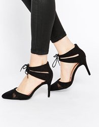 New Look Wide Fit Mesh Insert 2 Part Heel Black