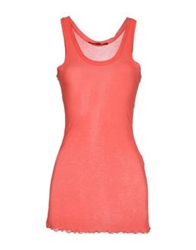 Peacock Blue Tank Tops Coral