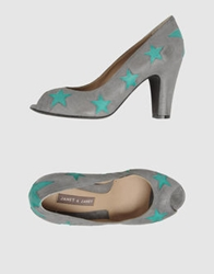 Janet And Janet Pumps With Open Toe Grey