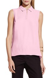 Women's Vince Camuto Collared Keyhole Neck Sleeveless Blouse Sugar Petal