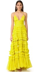 Maria Lucia Hohan Dalila Sleeveless Maxi Dress Sunshine Yellow