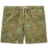 Loewe Paula's Ibiza Mid Length Printed Swim Shorts Green