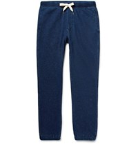 Alex Mill Slim Fit Indigo Dyed Loopback Cotton Jersey Sweatpants Indigo