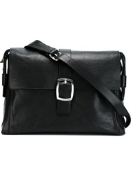 Emporio Armani Buckled Messenger Bag Black
