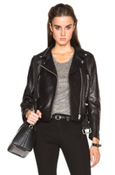 Acne Studios Mock Leather Jacket In Black