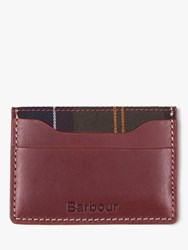 Barbour Hadleigh Leather Card Holder Brown