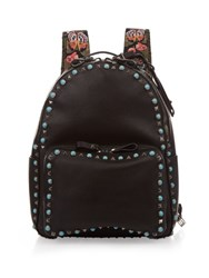 Valentino Rockstud Leather Backpack Black Multi