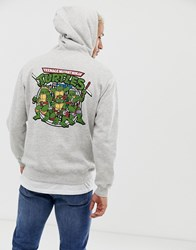Pull And Bear Pullandbear Ninja Turtles Hoodie In Grey
