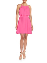 Collective Concepts Blouson Dress Hot Pink