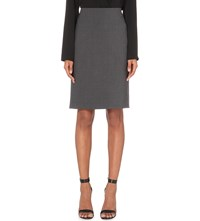 Theory Stretch Wool Pencil Skirt Charcoal