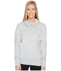 Lucy Inner Purpose Pullover Sleet Grey Heather Long Sleeve Pullover Gray