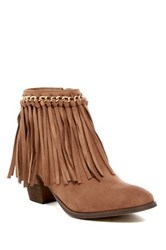 Liliana Cyrus Fringe Boot Brown
