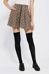 Staring At Stars Zip Front Circle Skirt Black Multi