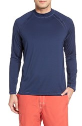 Tommy Bahama Men's Big And Tall Surf Chaser Crewneck T Shirt Maritime