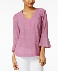 G.H. Bass And Co. Cotton Bell Sleeve Top Passion Pink