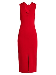 Dion Lee Destiny Bandage Back Dress Red