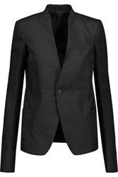 Rick Owens Wool Trimmed Tweed Blazer Black