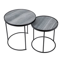 Amara Round Table With Marble Top Set Of 2