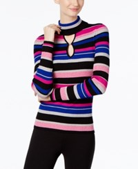 Inc International Concepts Striped Keyhole Sweater Only At Macy's Mulit Stripe