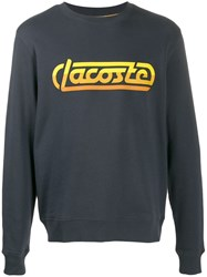 Lacoste Live Printed Logo Sweater Blue