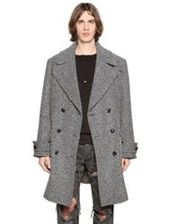 Faith Connexion Oversized Wool Tweed Coat
