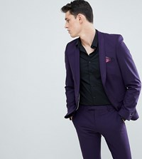 Noose And Monkey Tall Super Skinny Suit Jacket Purple