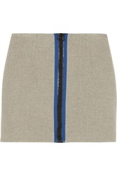 Opening Ceremony Scuba Wool Blend Mini Skirt Gray
