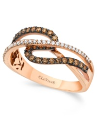 Chocolate By Petite Le Vian Chocolate And White Diamond 3 8 Ct. T.W. Ring In 14K Rose Gold