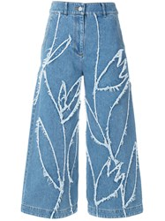 Christian Wijnants Cropped Patchwork Jeans Blue