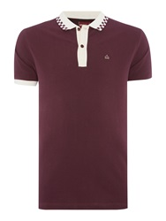 Merc Nova Checkerboard Tipping Polo Shirt Wine