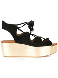 See By Chloe Metallic Platform Sandals Black
