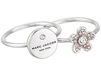 Marc Jacobs Mj Coin Charm Ring Silver Ring