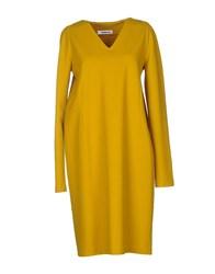 Jil Sander Dresses Knee Length Dresses Women Yellow