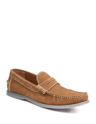 Bass Keane Suede Penny Loafers Taupe